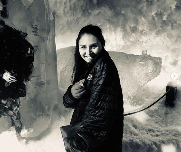 Megan Jane Ramsay wearing a black jacket