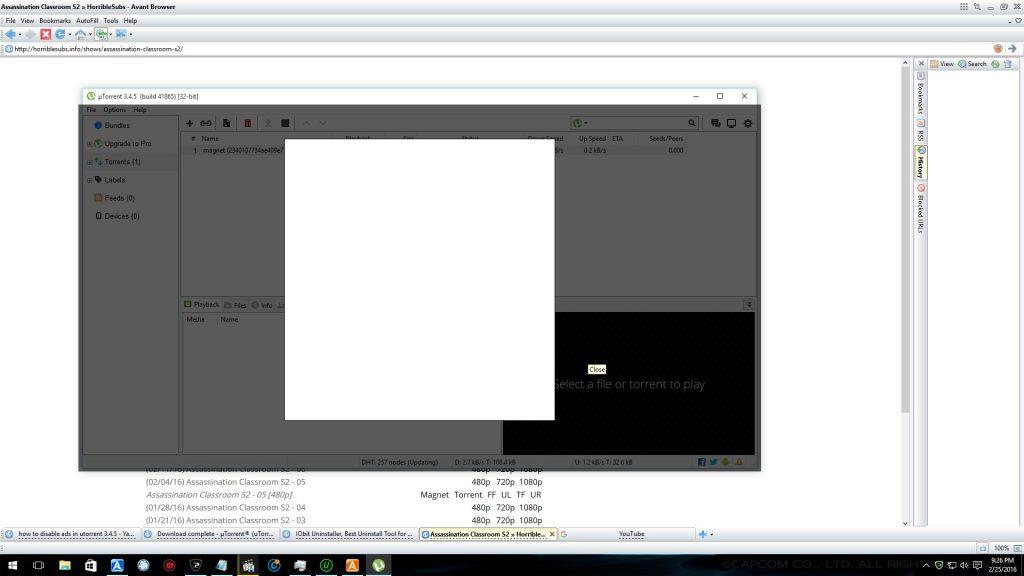 Screenshot of Popup in welltorrent.xyz